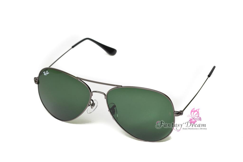 Солнечные очки Ray-Ban Aviator серебрянной